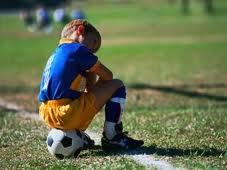 bamino triste calcio