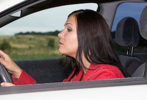 postura ansia e rabbia in auto