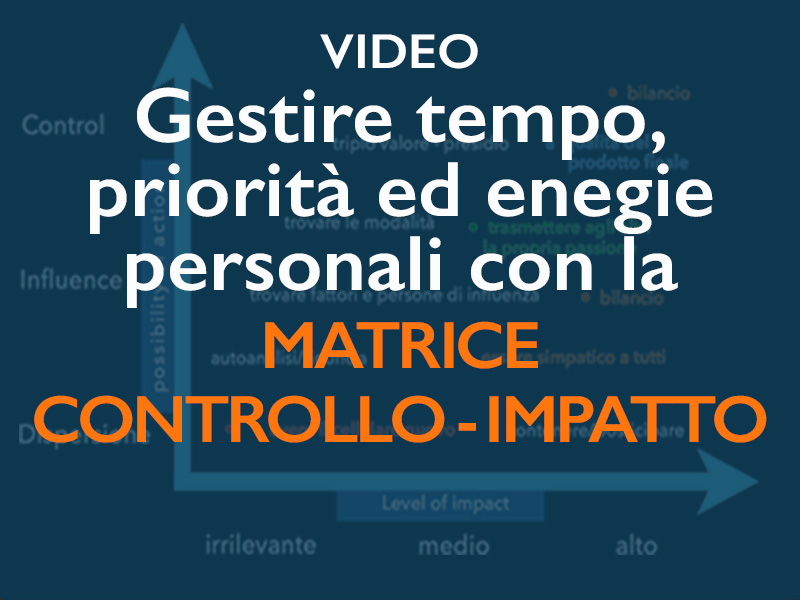 video gestire tempo priorità ed energie